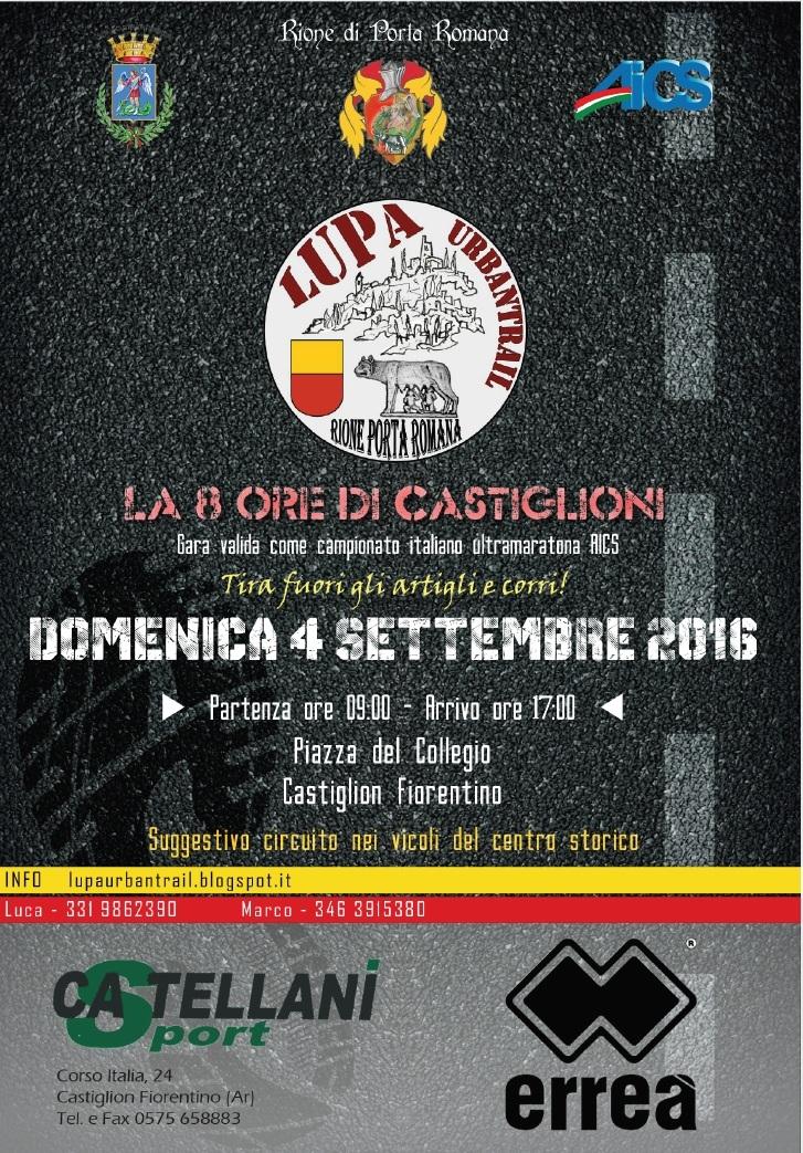 'Lupa Urban Trail', 8 ore di gara per le vie di Castiglion Fiorentino