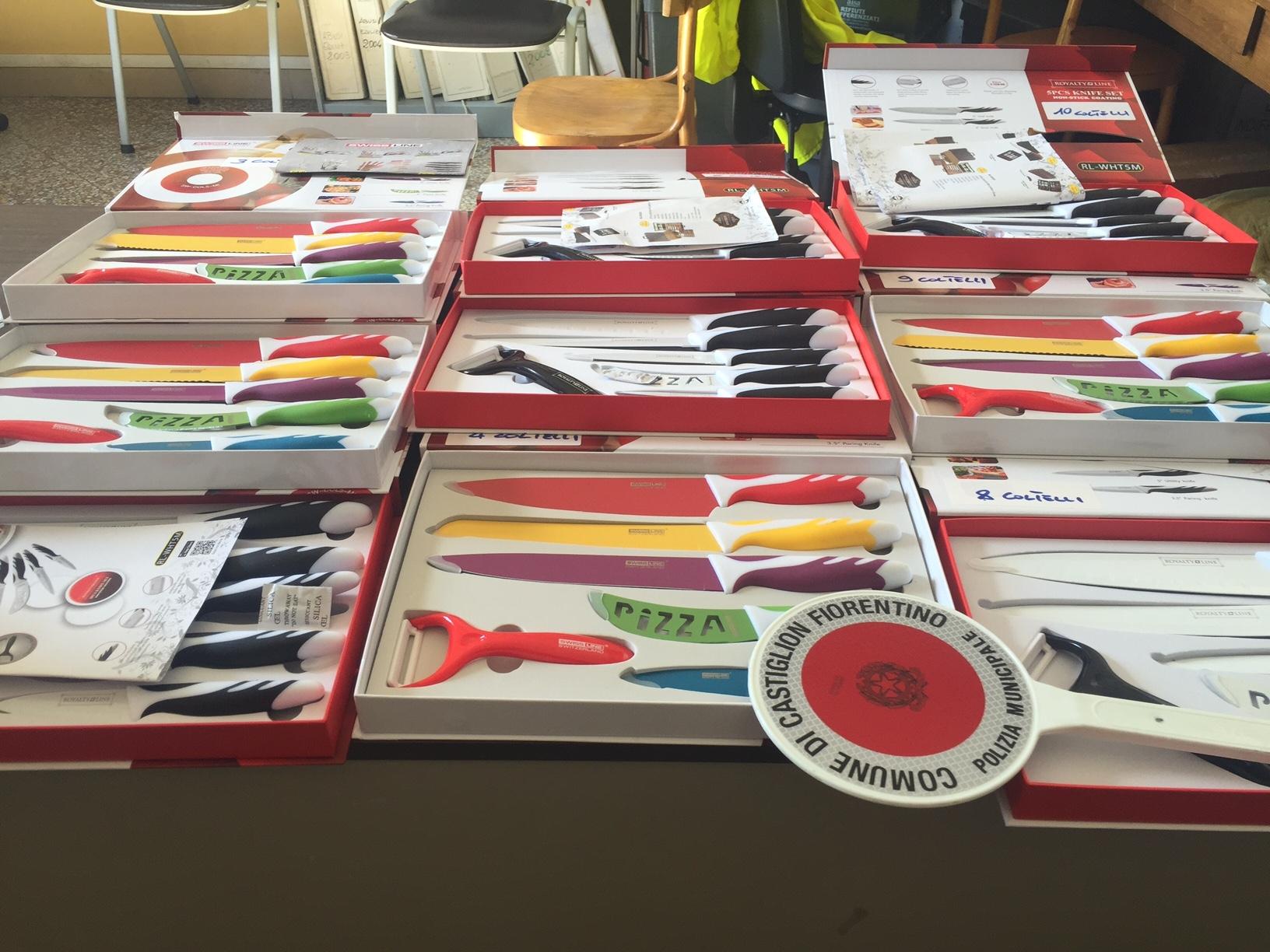 Castiglion Fiorentino, i Vigili individuano venditore abusivo di coltelli