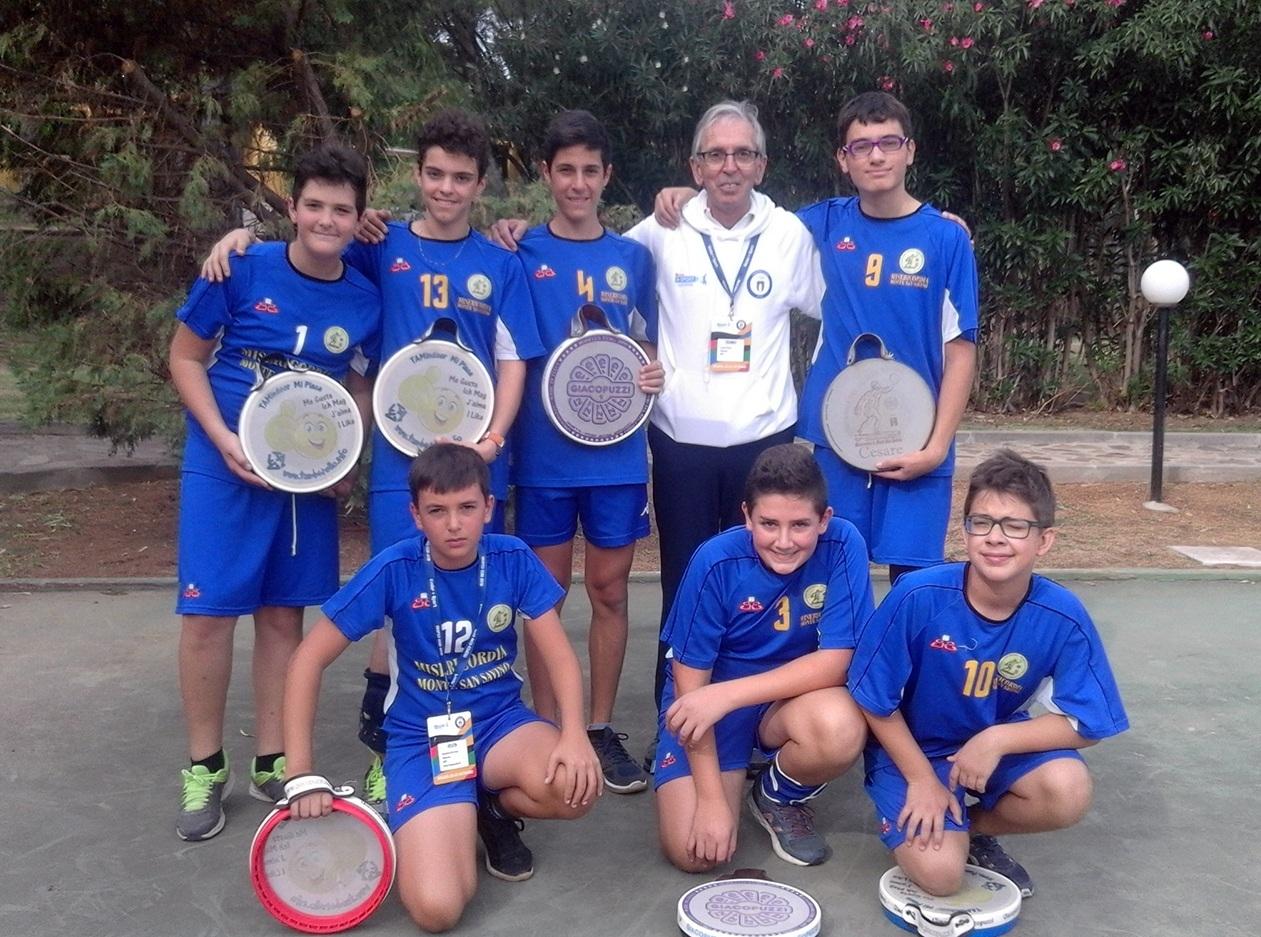 I ragazzi della palla tamburello di Monte San Savino secondi ai campionati italiani