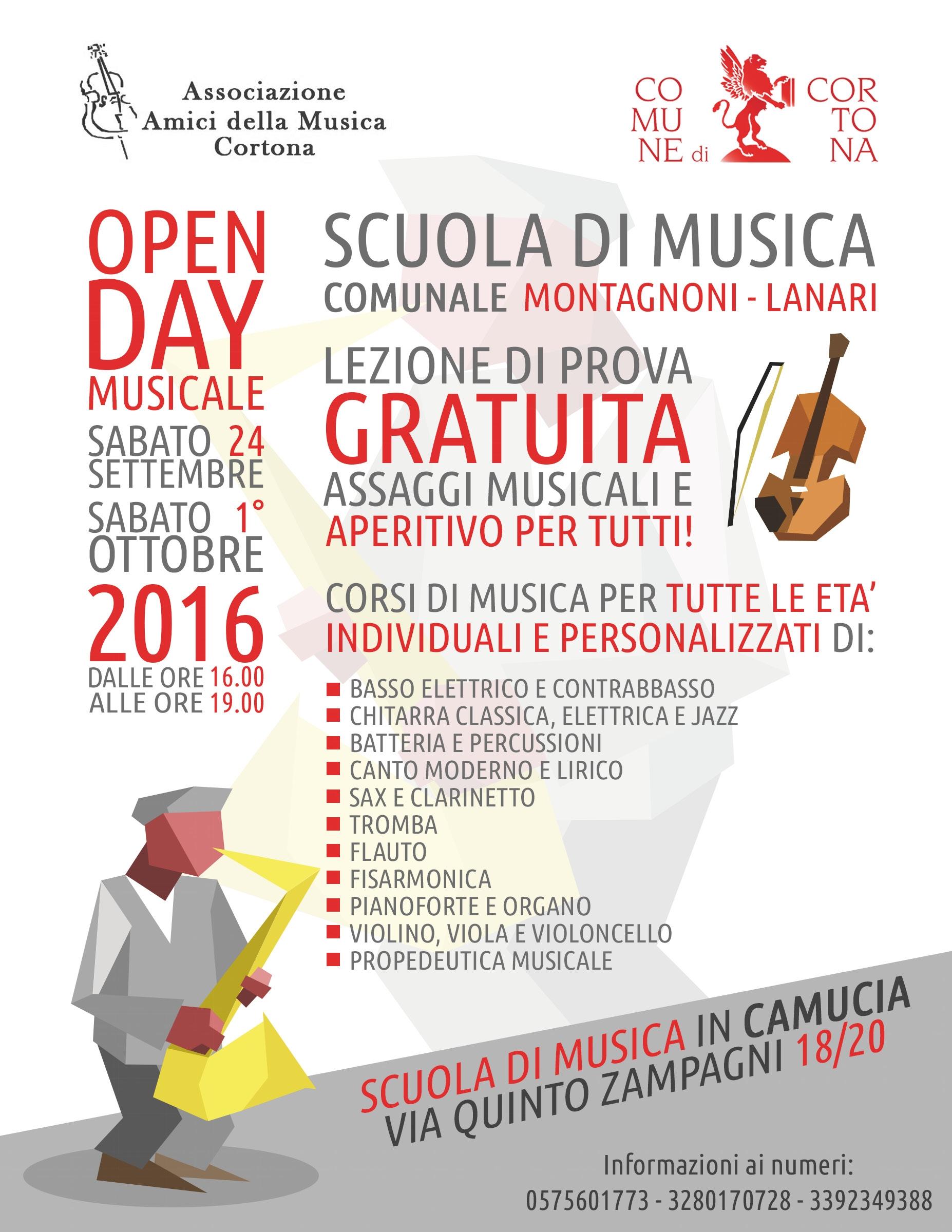Scuola di Musica Comunale di Cortona, via alle iscrizioni