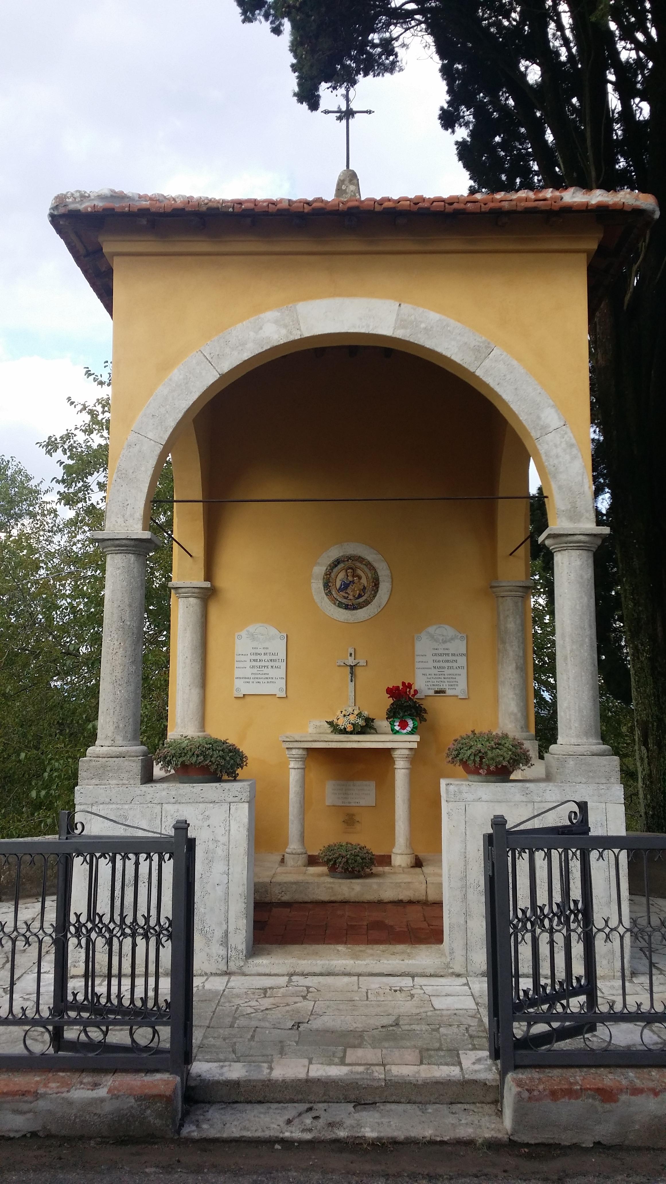 Restaurato il Monumento ai Caduti della frazione savinese di Palazzuolo