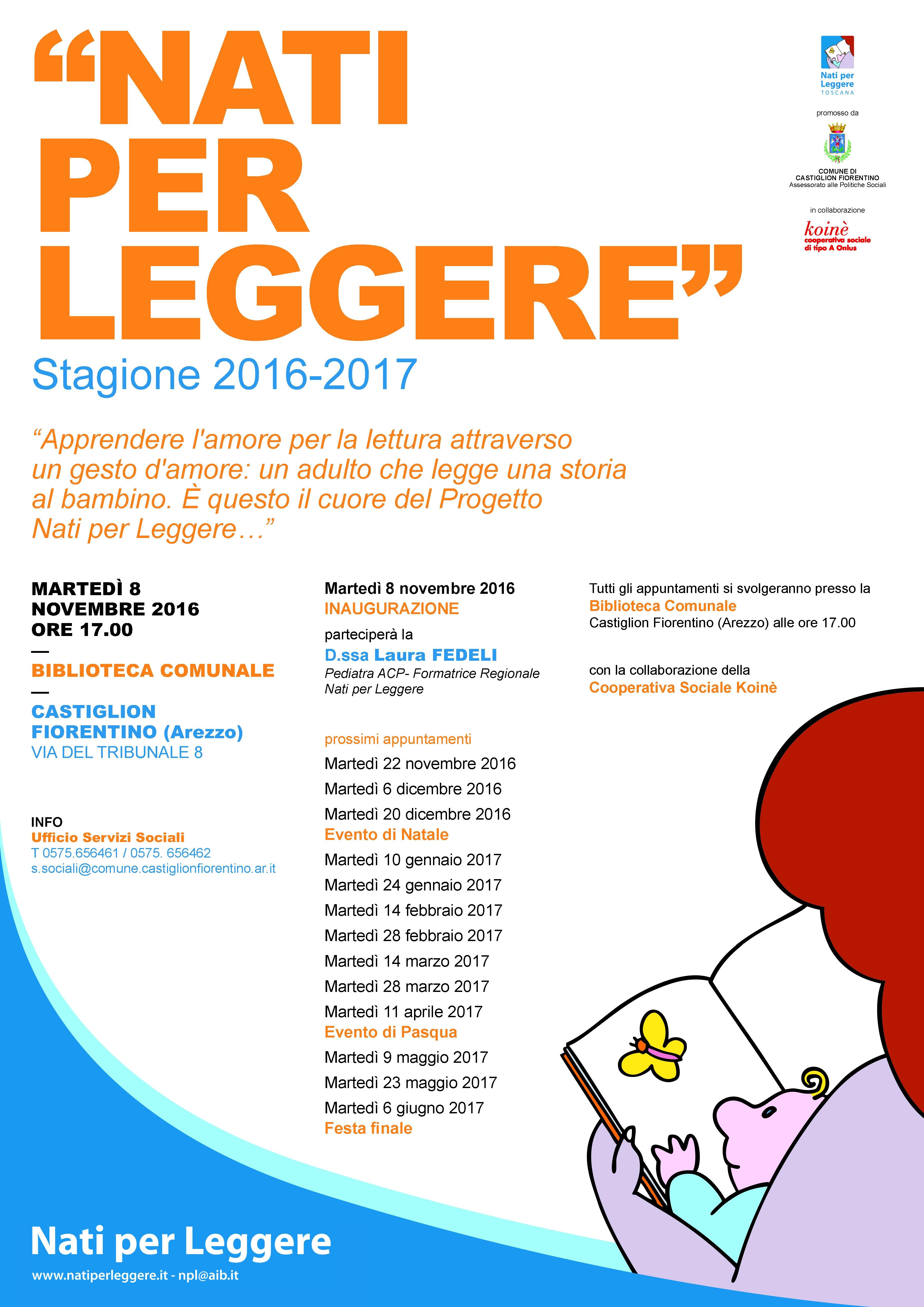 'Nati per leggere', via alla nuova stagione presso la Biblioteca di Castiglion Fiorentino