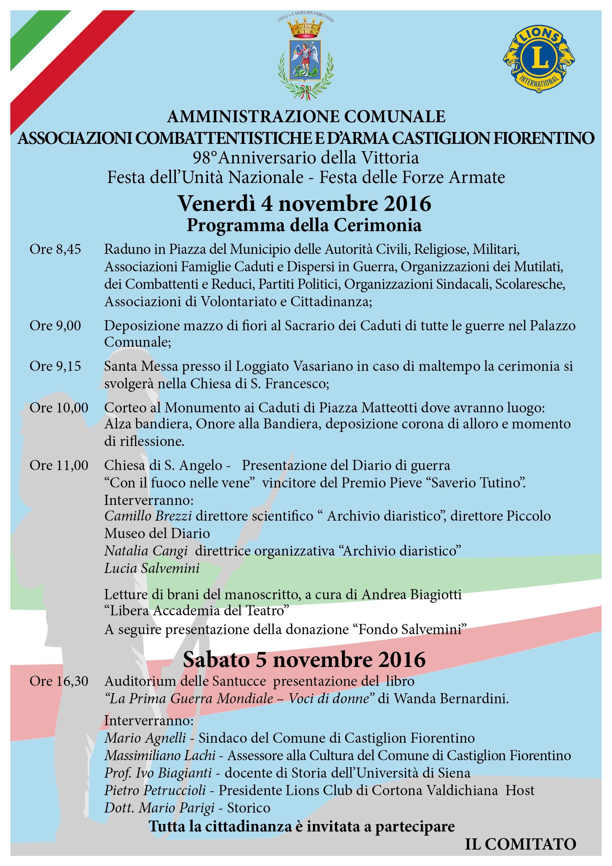 La grande guerra, due giorni di celebrazioni e ricordi a Castiglion Fiorentino
