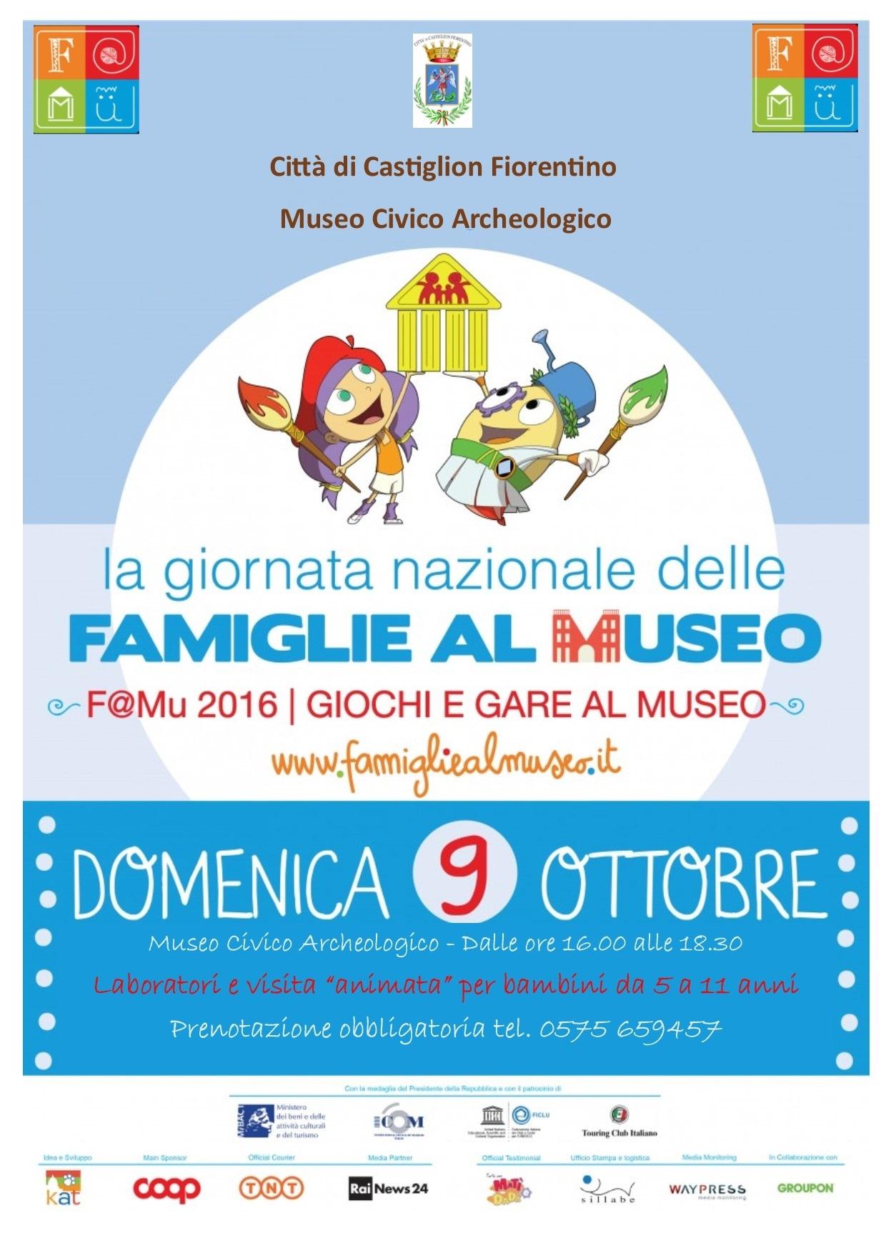 Famiglie al Museo, domenica gare e giochi al Museo di Castiglion Fiorentino