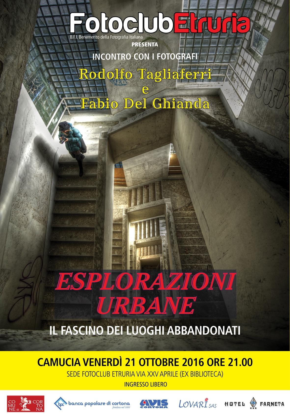 'Urban Exploration' al Fotoclub Etruria
