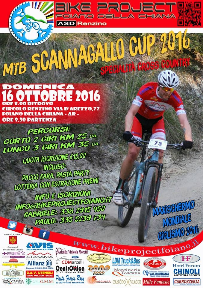 Domenica prima edizione del Gran Premio MTB Scannagallo