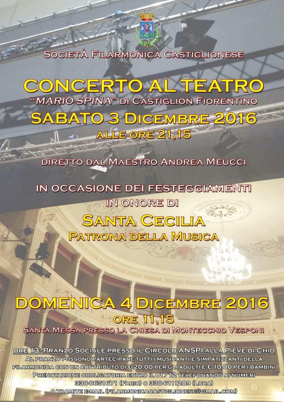 Festeggiamenti a Castiglion Fiorentino per Santa Cecilia, patrona della musica