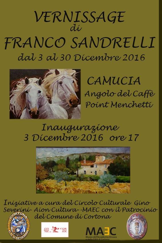 Cortona, una mostra dedicata all'attività artistica di Franco Sandrelli