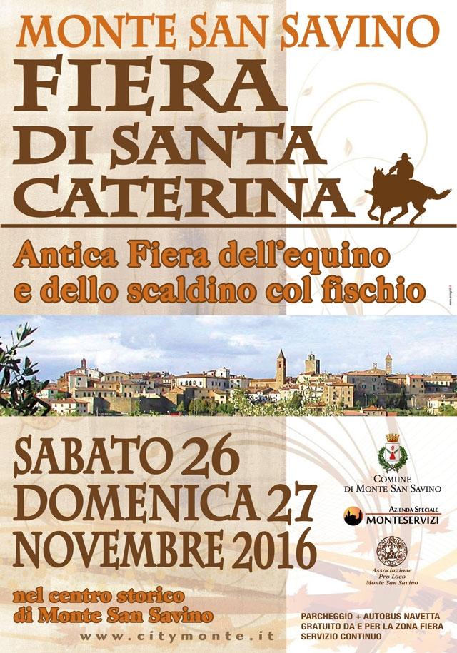 A Monte San Savino sabato e domenica torna la 'Fiera di Santa Caterina'