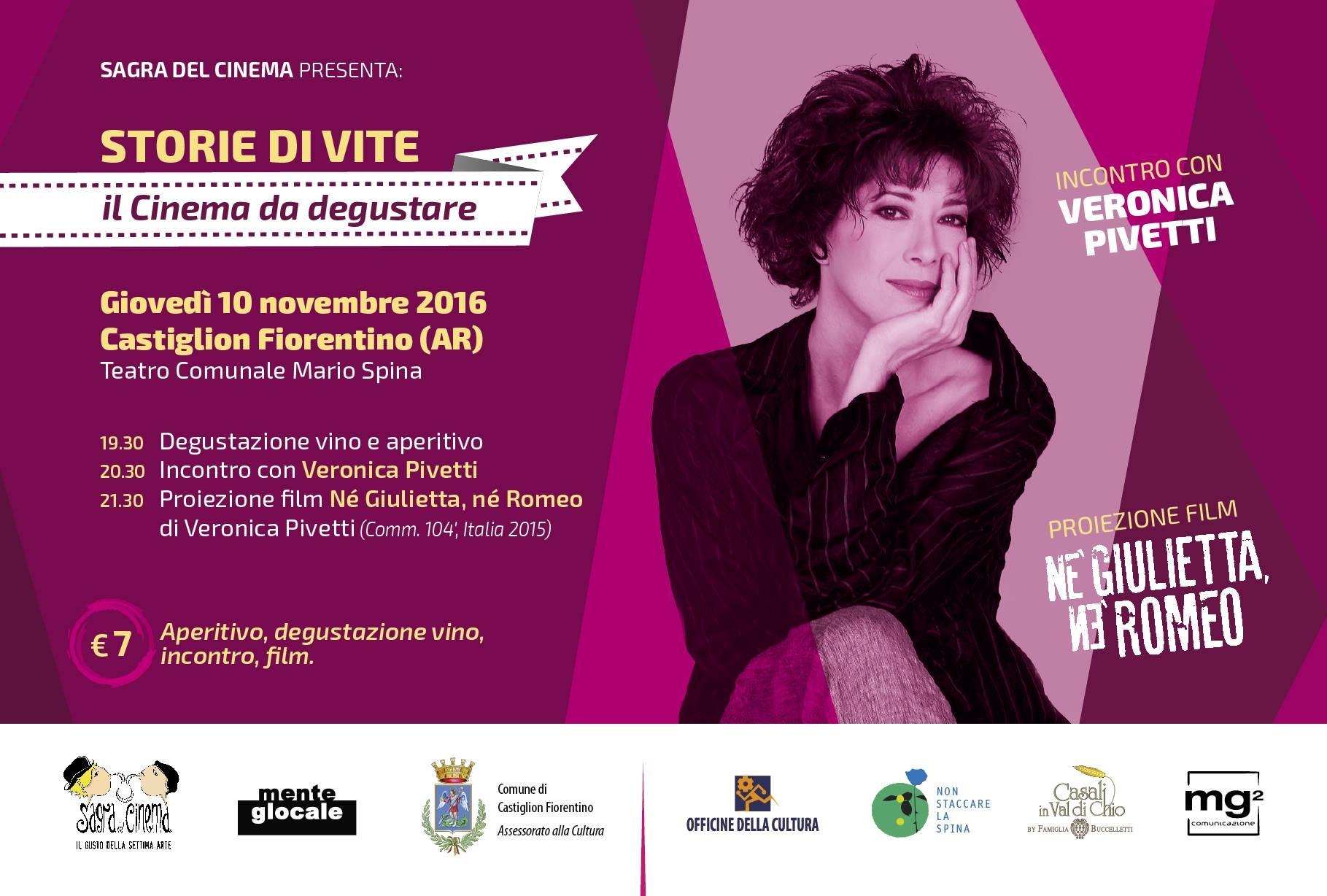 Veronica Pivetti presenta a Castiglion Fiorentino il suo primo film da regista