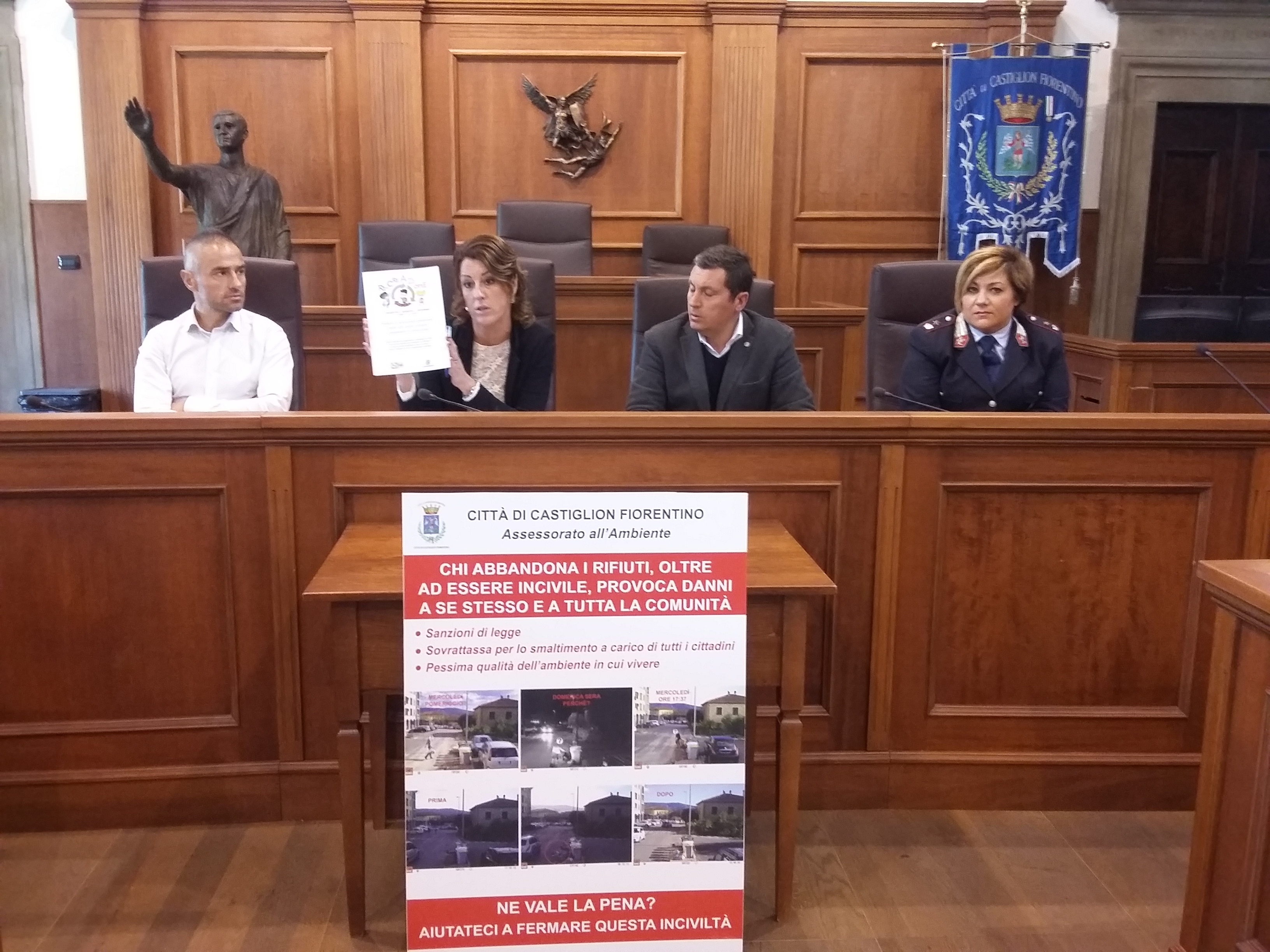 Foto-trappole contro chi abbandona i rifiuti a Castiglion Fiorentino