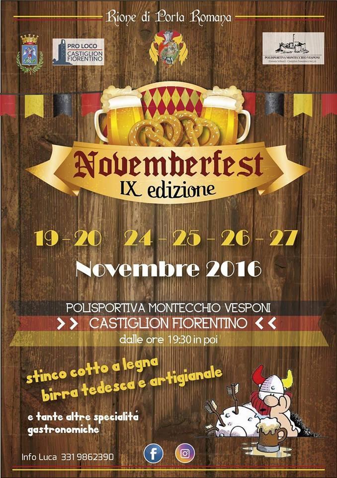 Secondo weekend della 'November Fest', il programma