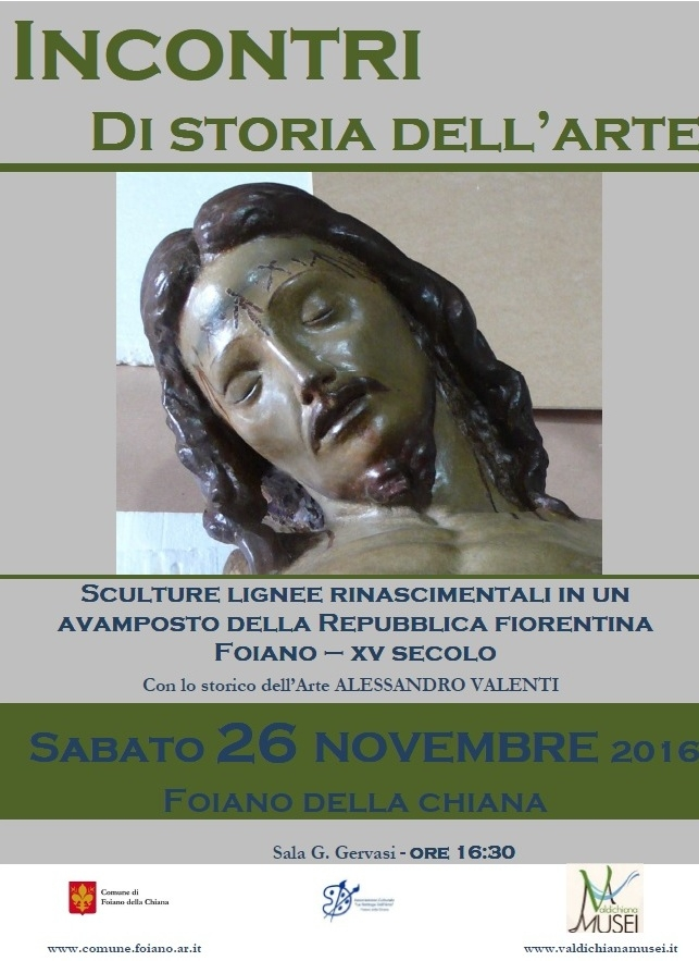 La scultura lignea rinascimentale a Foiano, conferenza con lo storico dell'arte Alessandro Valenti