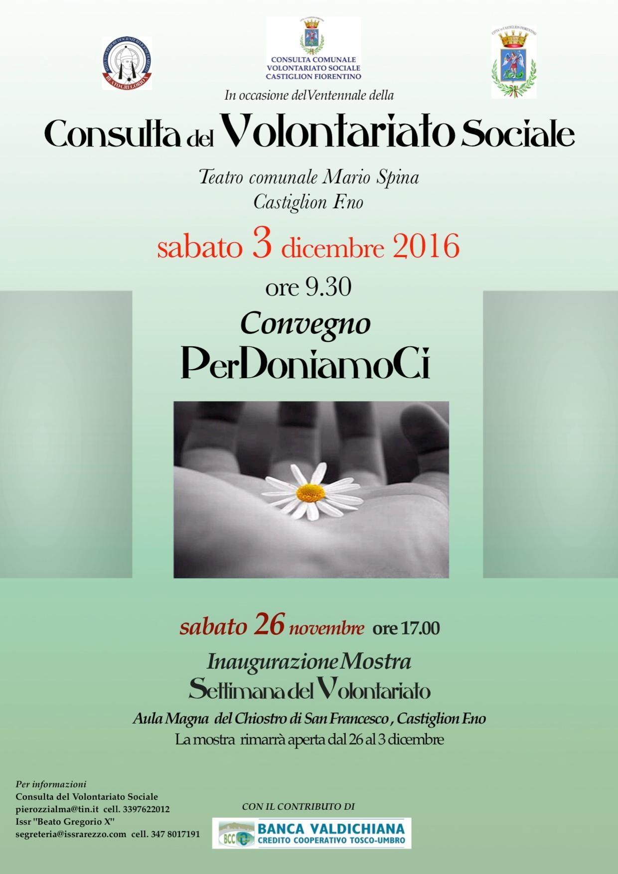 Via alla Settimana del Volontariato a Castiglion Fiorentino