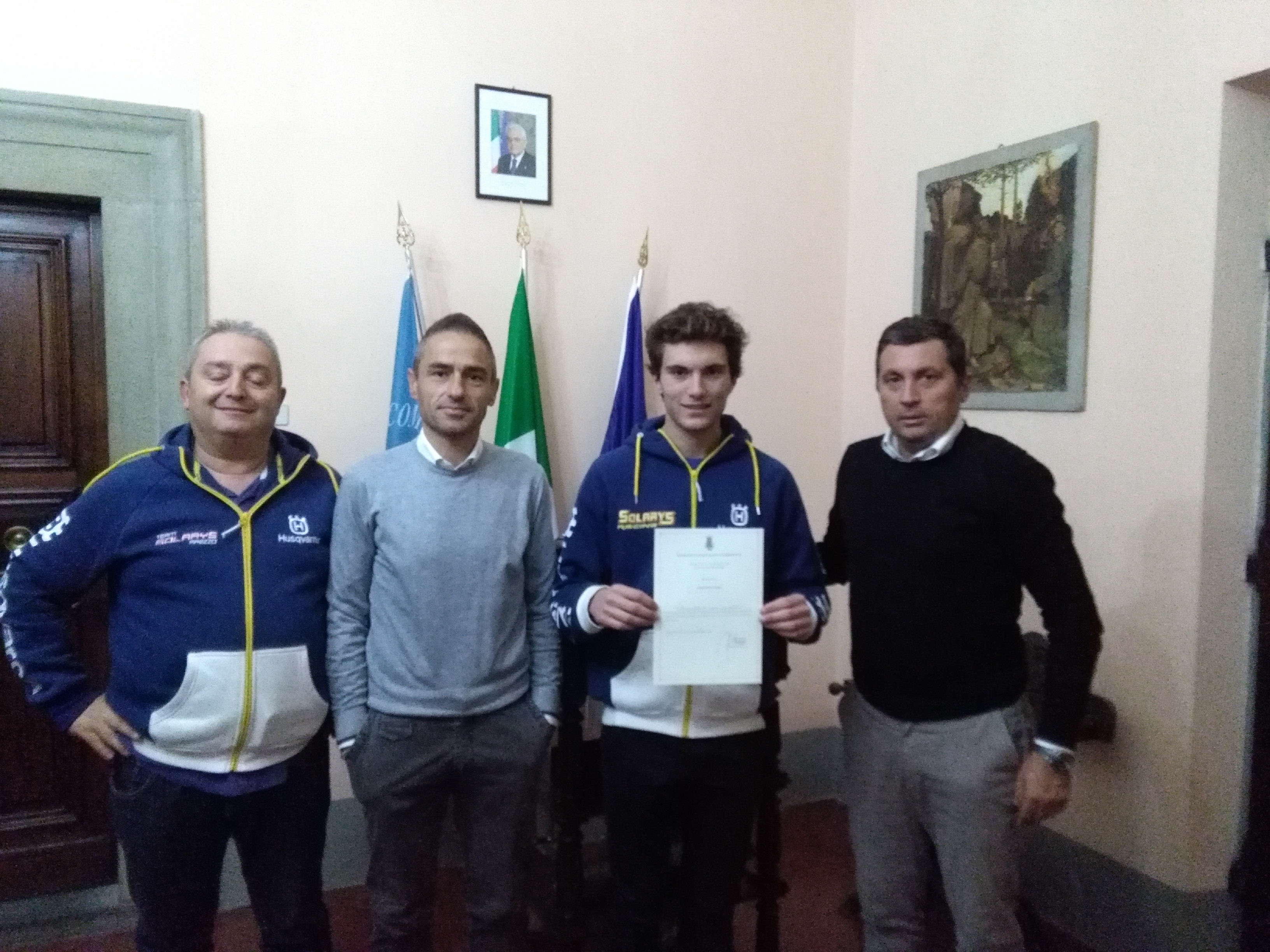 Tommaso Massi e Matteo Segantini, due sportivi castiglionesi premiati dall'Amministrazione