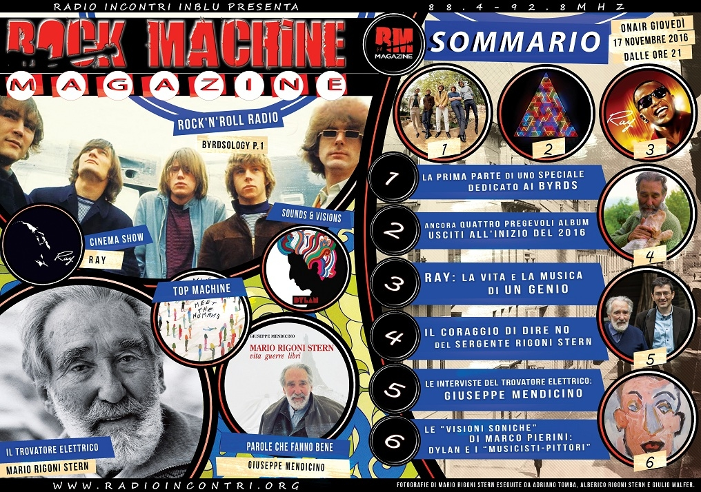 Rock Machine Magazine puntata 2: dai Byrds a Bob Dylan pittore passando per Mario Rigoni Stern...