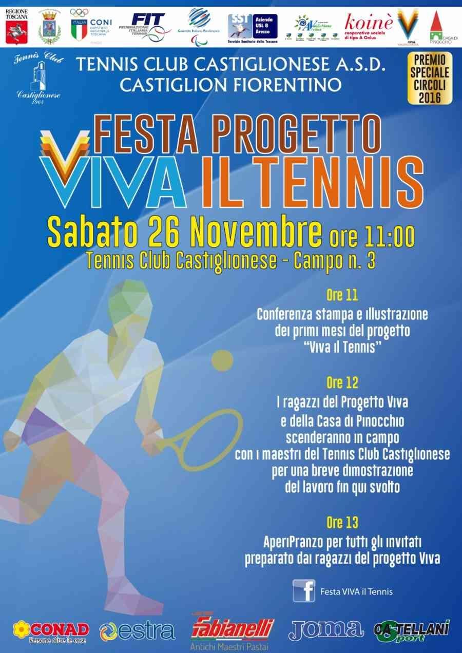 Al 'Fontesecca' la festa Viva il Tennis