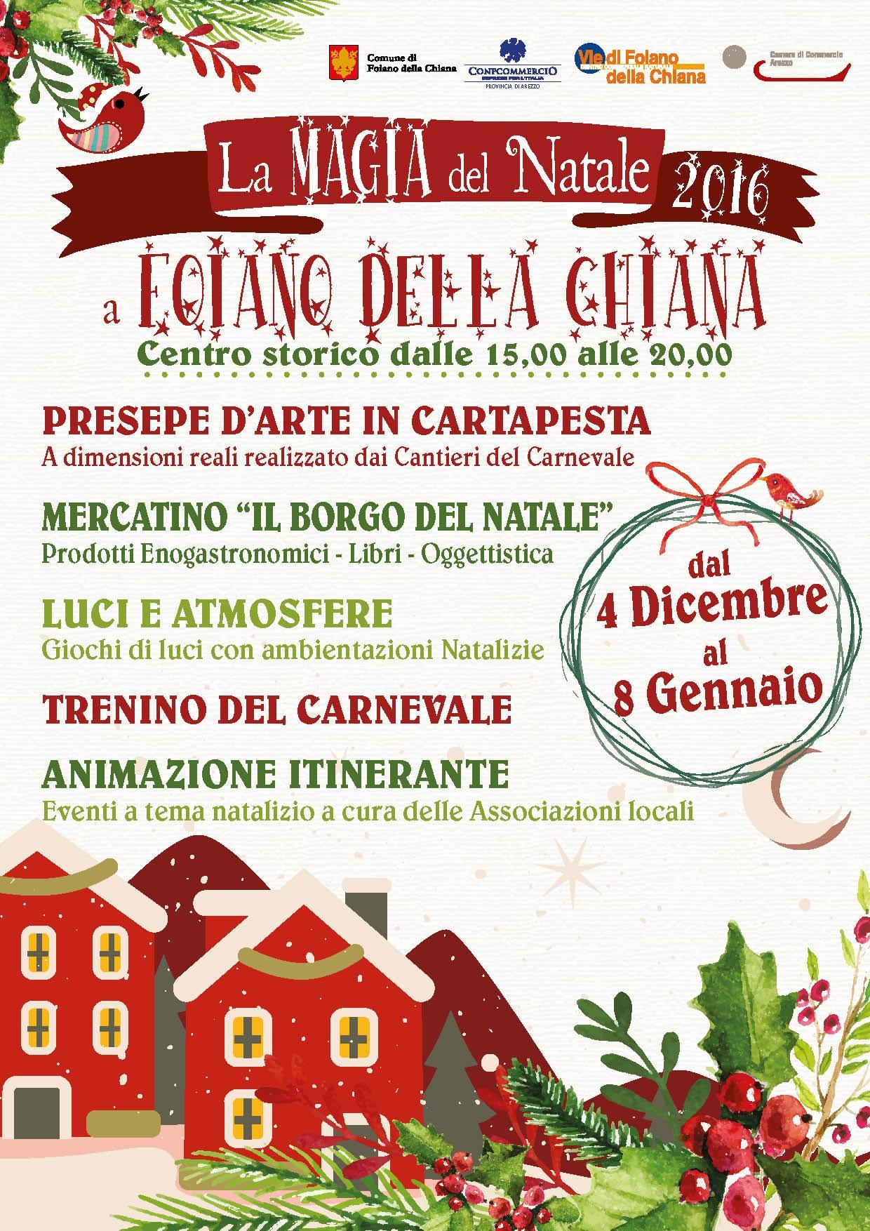 'La magia del Natale', tutte le iniziative delle feste a Foiano