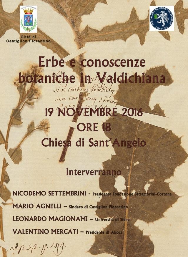 'Erbe e conoscenze botaniche in Valdichiana', evento promosso dalla Fondazione Settembrini a Castiglion Fiorentino
