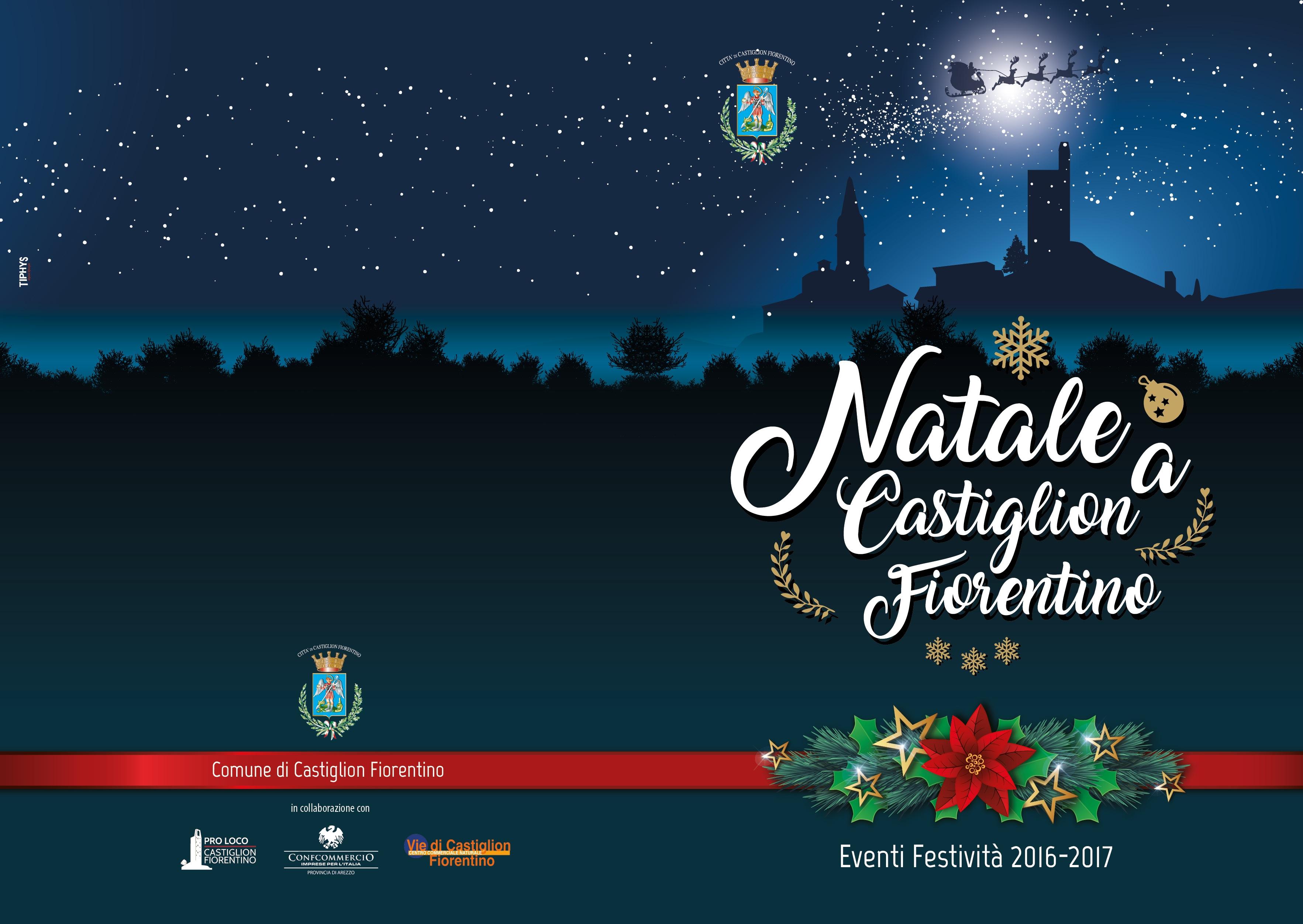 Castiglion Fiorentino, si accendono le luminarie e parte il programma natalizio