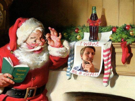 Biondo Natale... come Babbo Natale!