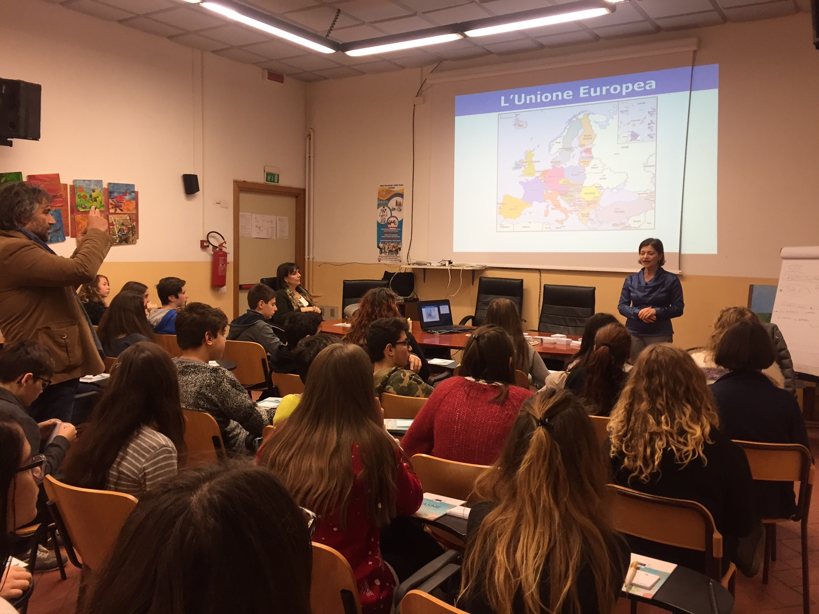 L'Unione Europea alla Scuola Media di Foiano