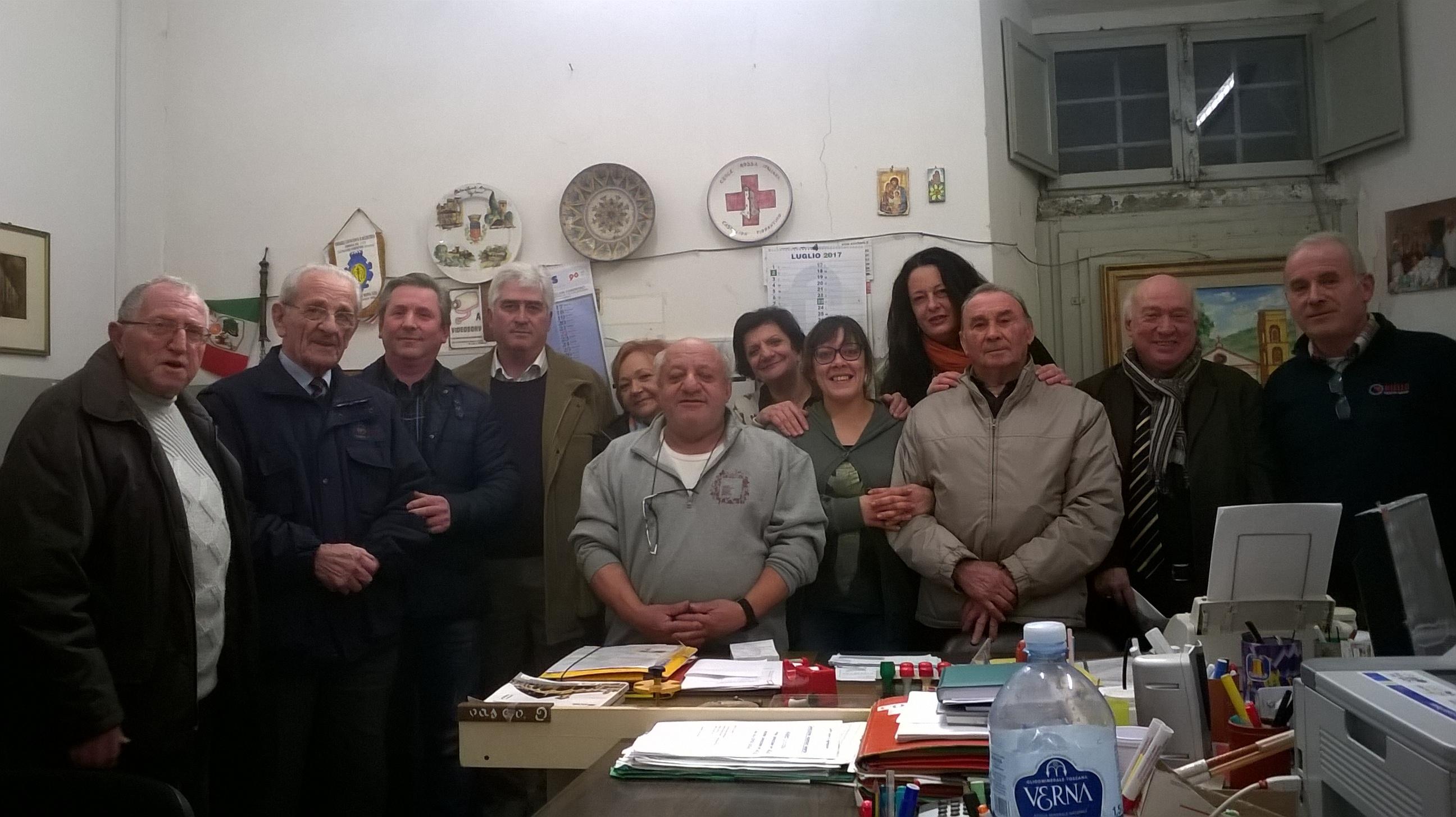 Eletto il nuovo Consiglio del Centro di Aggregazione Sociale di Castiglion Fiorentino