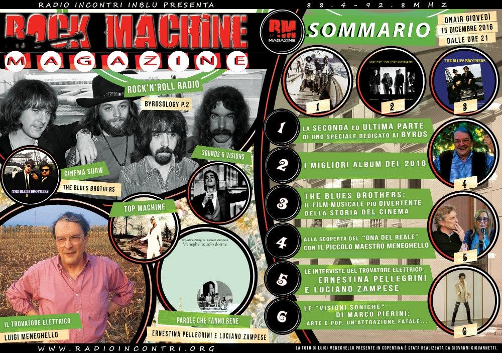 Rock Machine Magazine, terza puntata: dalla svolta country dei Byrds all'attrazione fatale fra pop e arti visive, passando per Luigi Meneghello