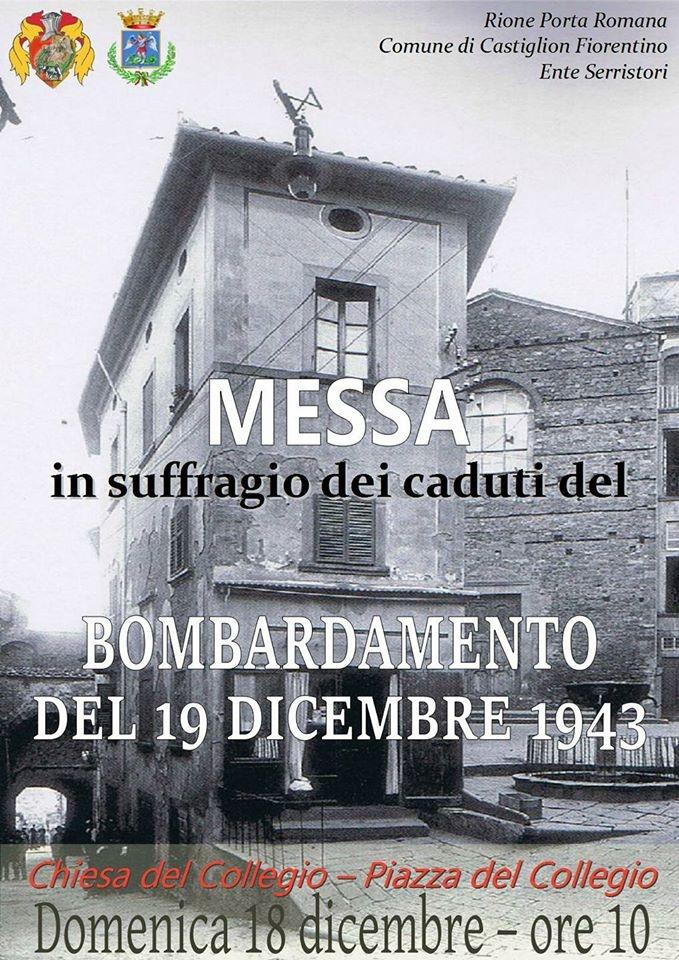 A Castiglioni Messa in ricordo delle vittime dei bombardamenti del 1943