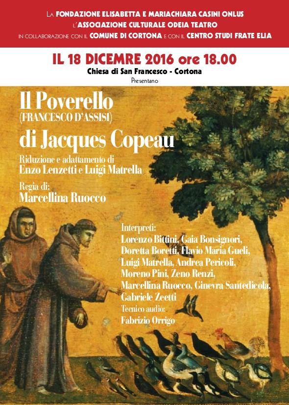 'Il poverello d'Assisi', spettacolo teatrale nella chiesa di San Francesco a Cortona