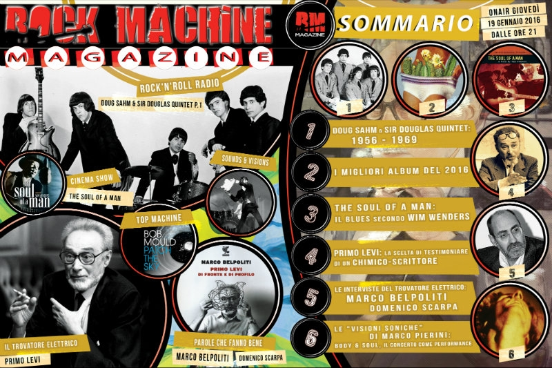 Rock Machine Magazine, quarta puntata: dal Tex-Mex del Sir Douglas Quintet fino a Primo Levi...
