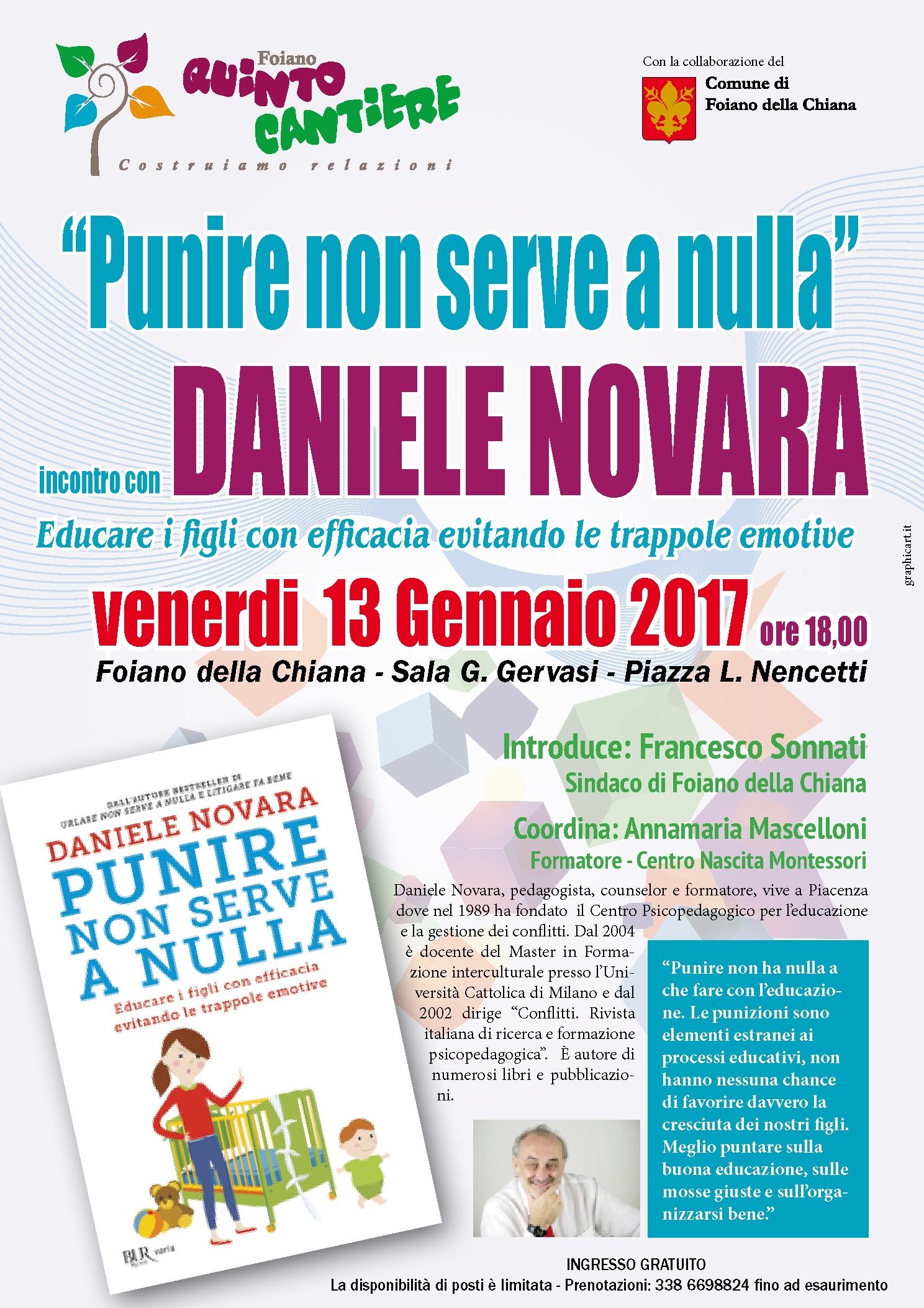 'Punire non serve a nulla', a Foiano conferenza con Daniele Novara