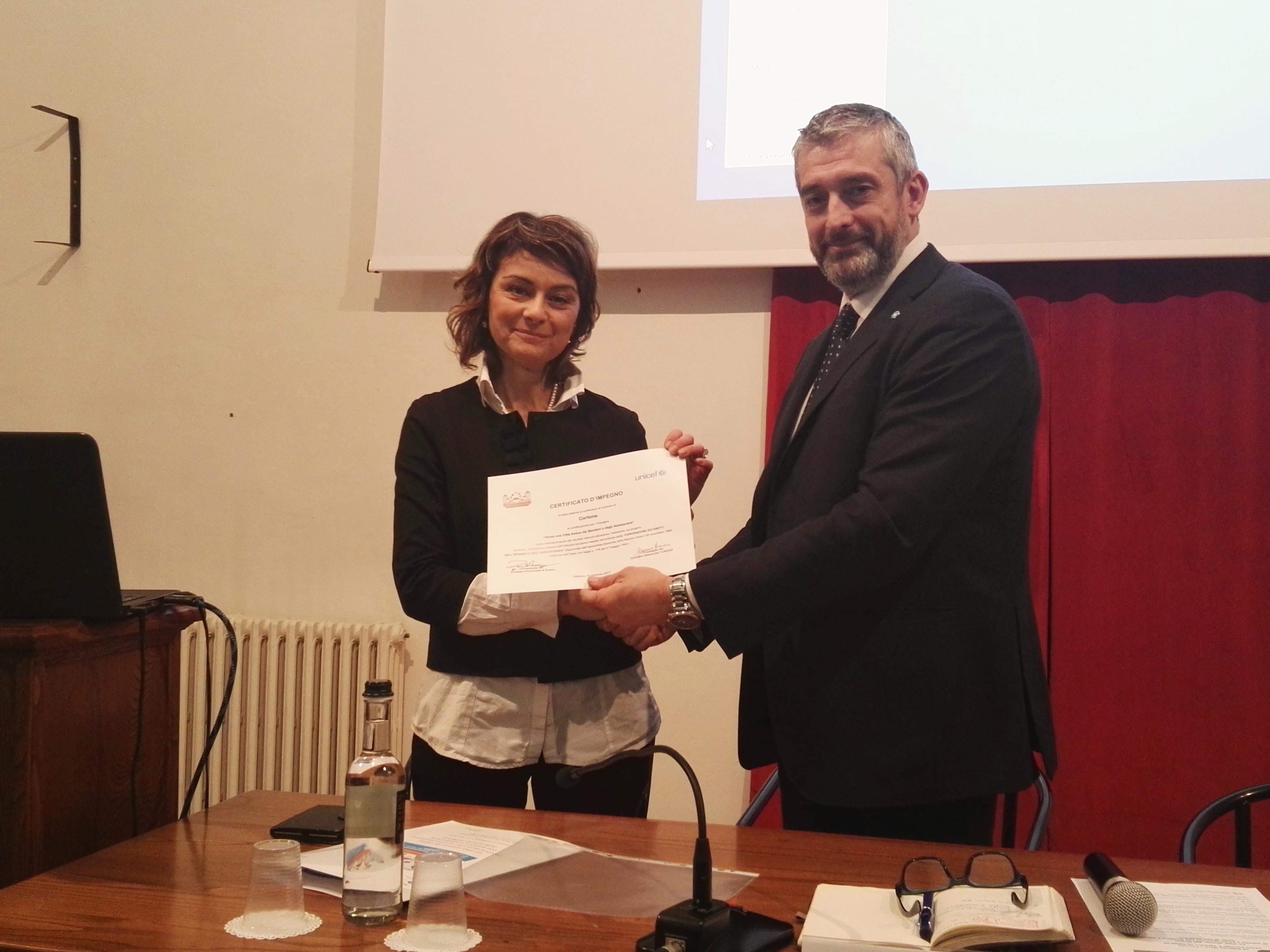 Unicef e Cortona, si rafforza la collaborazione
