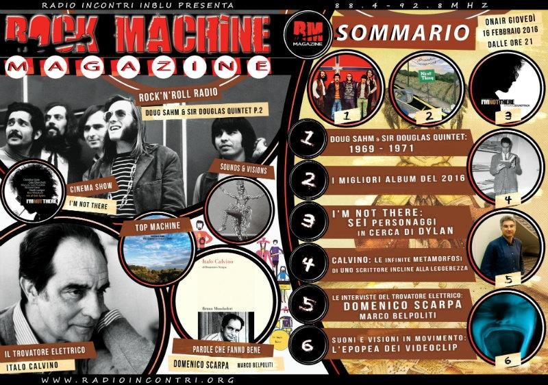 Rock Machine Magazine, quinta puntata: dal Sir Douglas Quintet alla storia dei videoclip, passando per Italo Calvino...