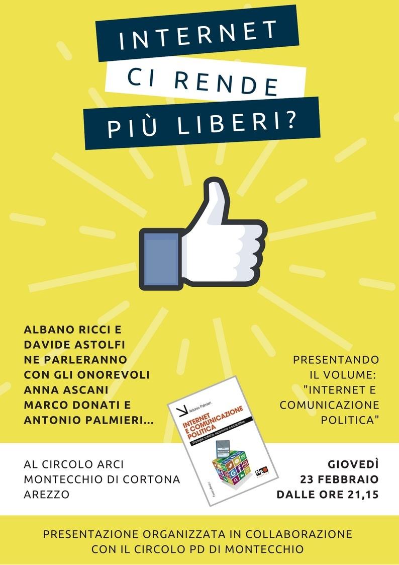 Internet ci rende più liberi? Iniziativa del Circolo PD di Montecchio