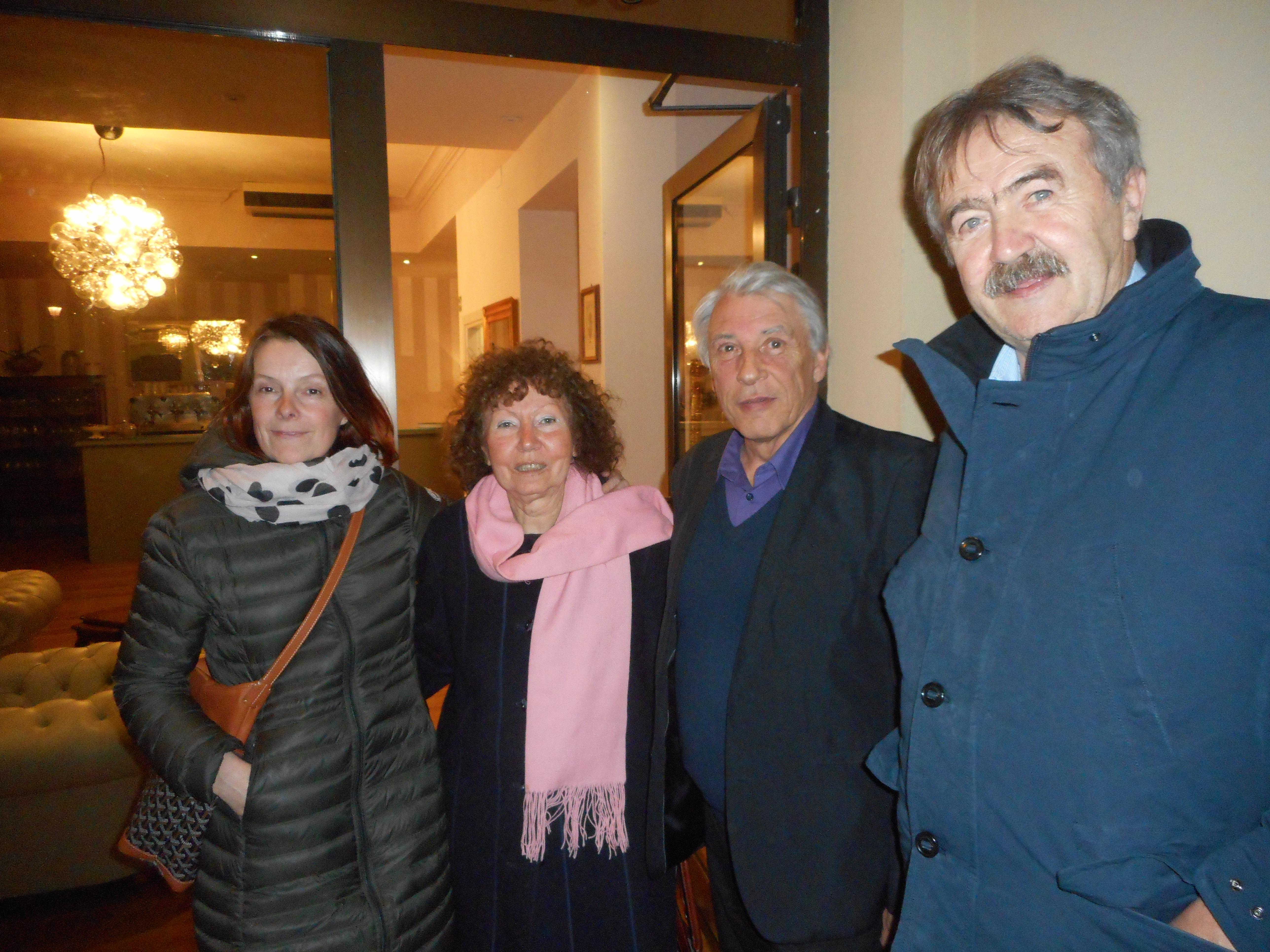 Gilbert Mitterrand in visita a Cortona