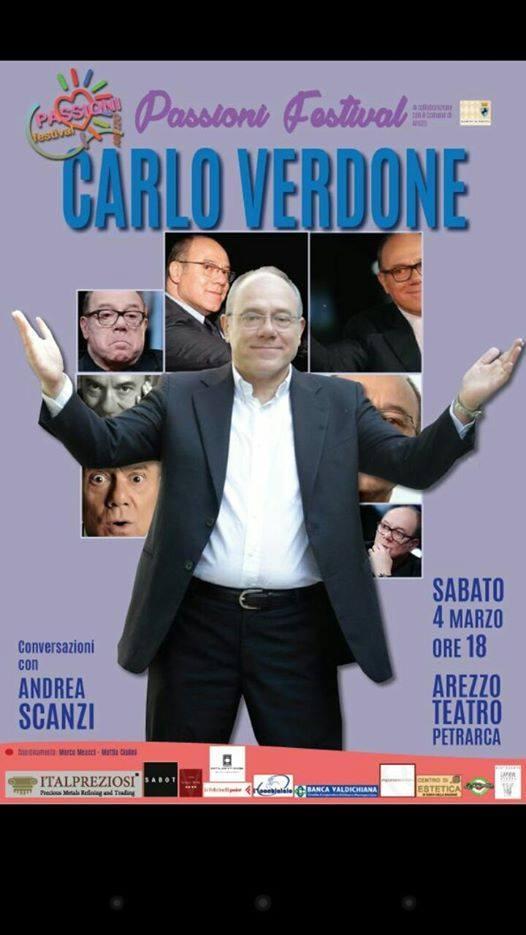 Carlo Verdone ad Arezzo per il 'Passioni Festival'