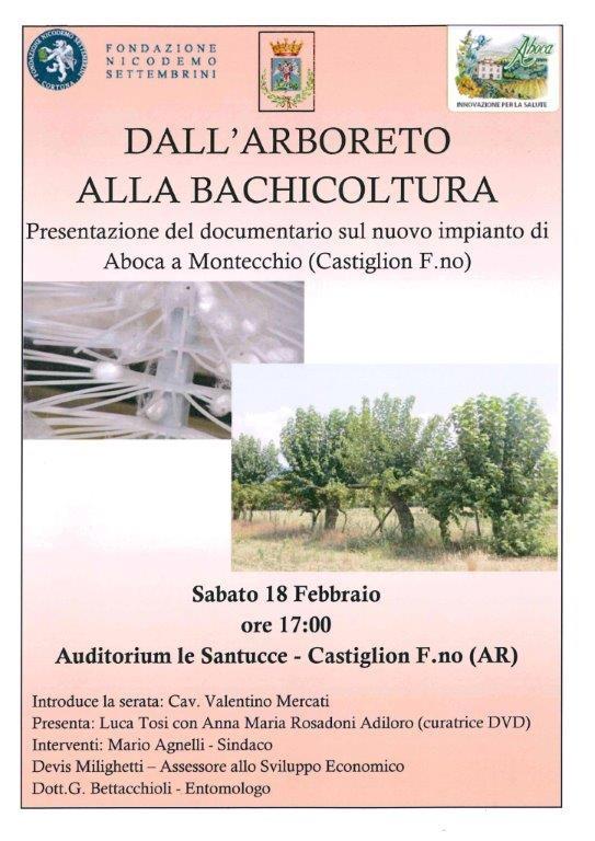 'Dall'arboreto alla bachicoltura', convegno a Castiglion Fiorentino