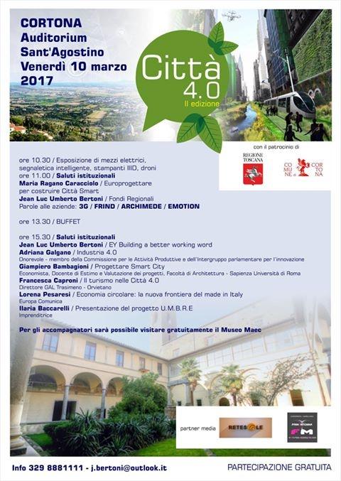'Città 4.0': a Cortona si parla di Smart City