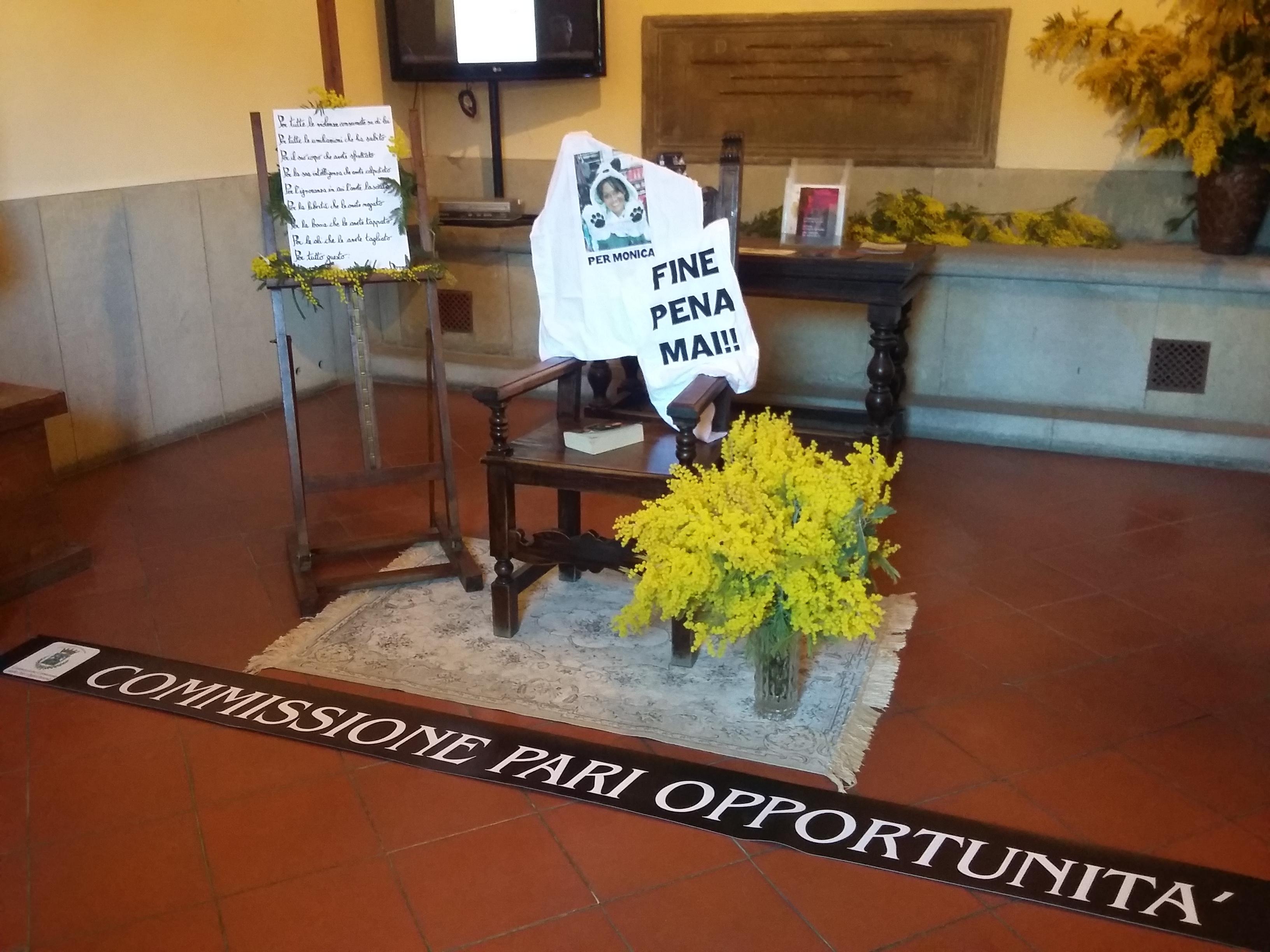 8 Marzo, il 'Posto di Monica' allestito presso Palazzo San Michele