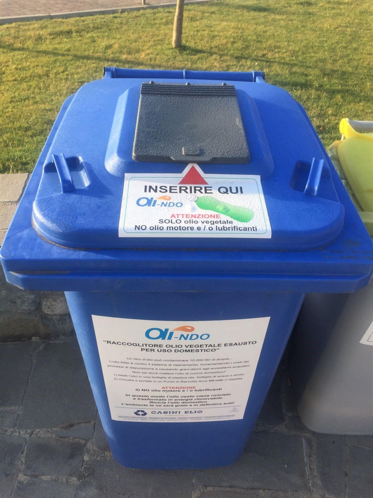 A Cortona si attiva la raccolta dell'olio alimentare esausto