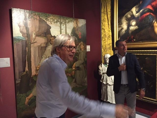 Vittorio Sgarbi al Teatro Spina di Castiglion Fiorentino