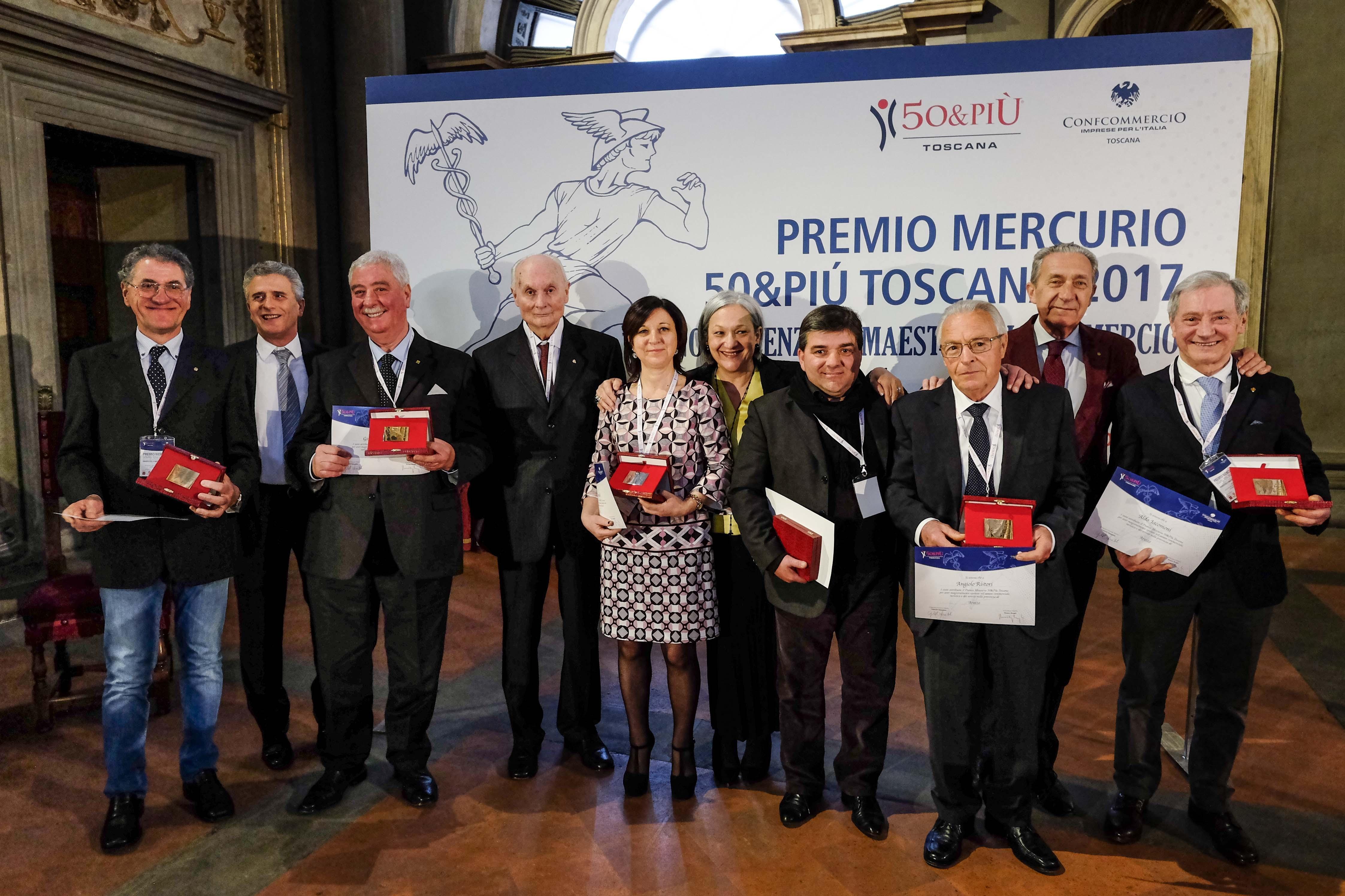 'Premio Mercurio', riconoscimento anche a imprenditori della Valdichiana