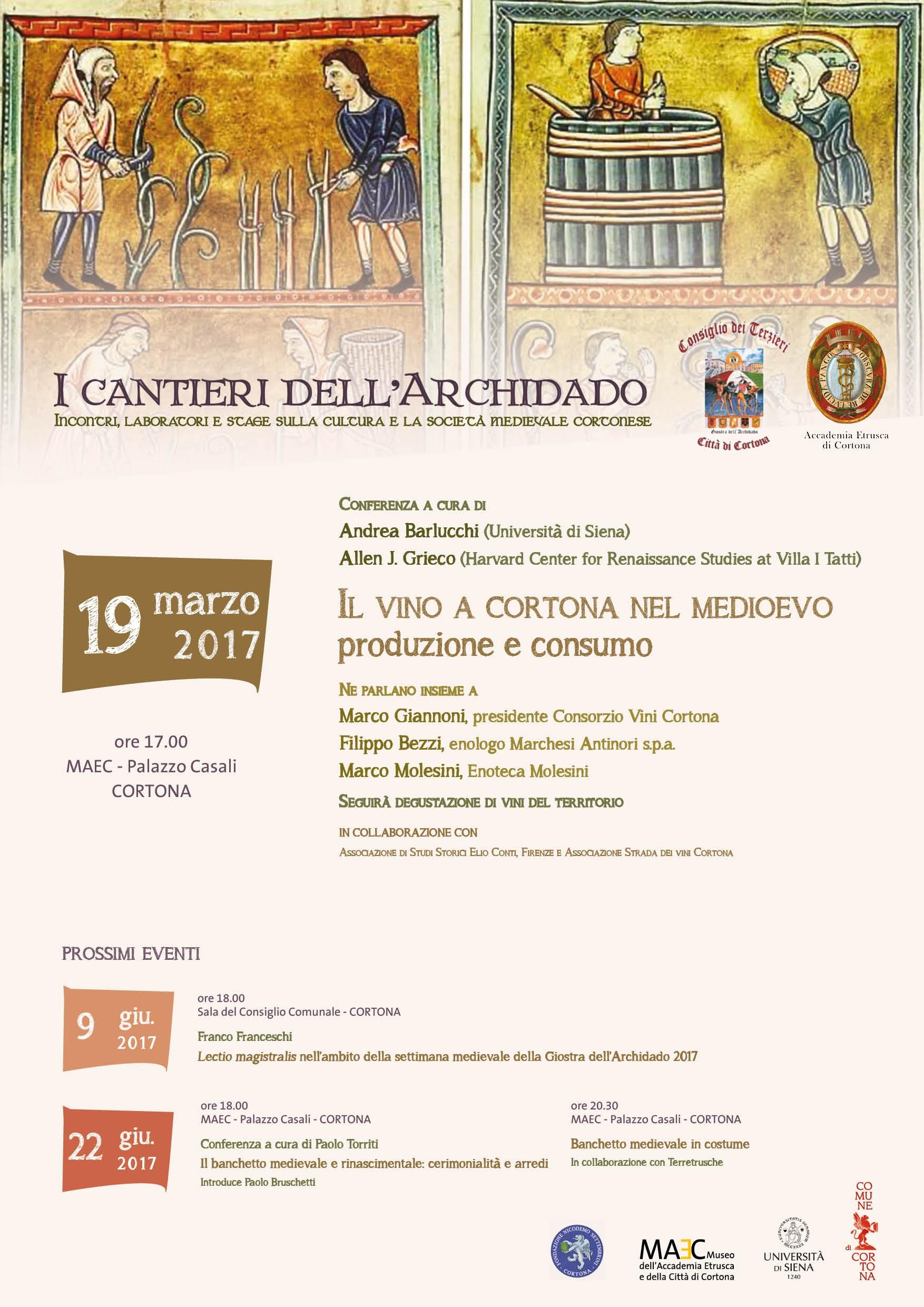 La cultura e la società medievale a Cortona: parte una serie di incontri, laboratori e stage