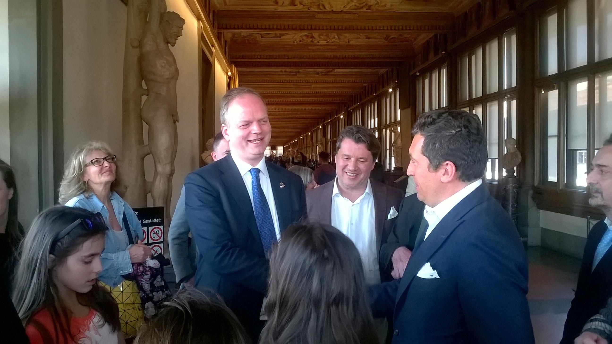 Una delegazione castiglionese in visita agli Uffizi