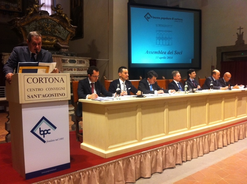 Domenica a Cortona l'Assemblea dei Soci di Banca Popolare