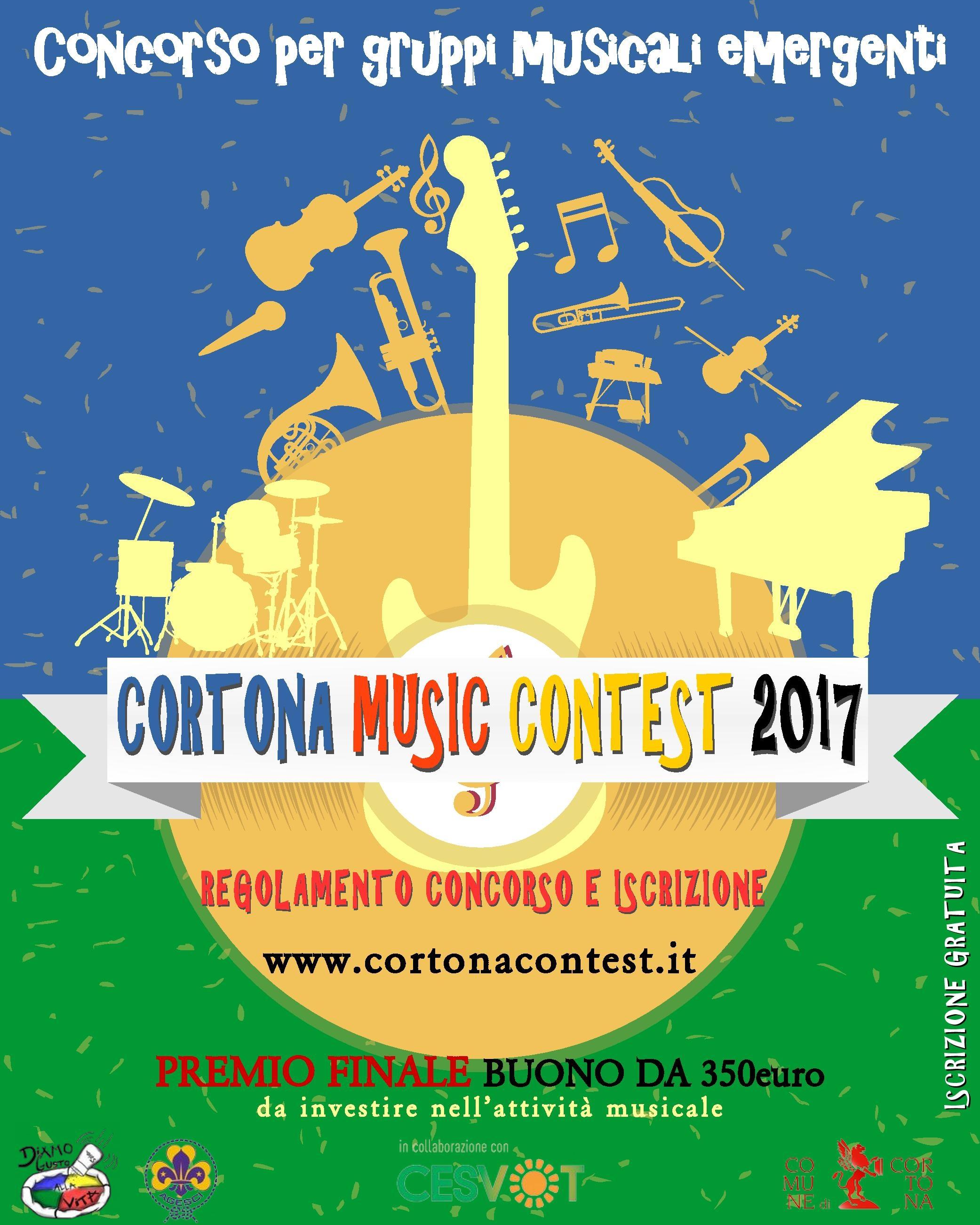 'Cortona Music Contest', concorso per band musicali emergenti