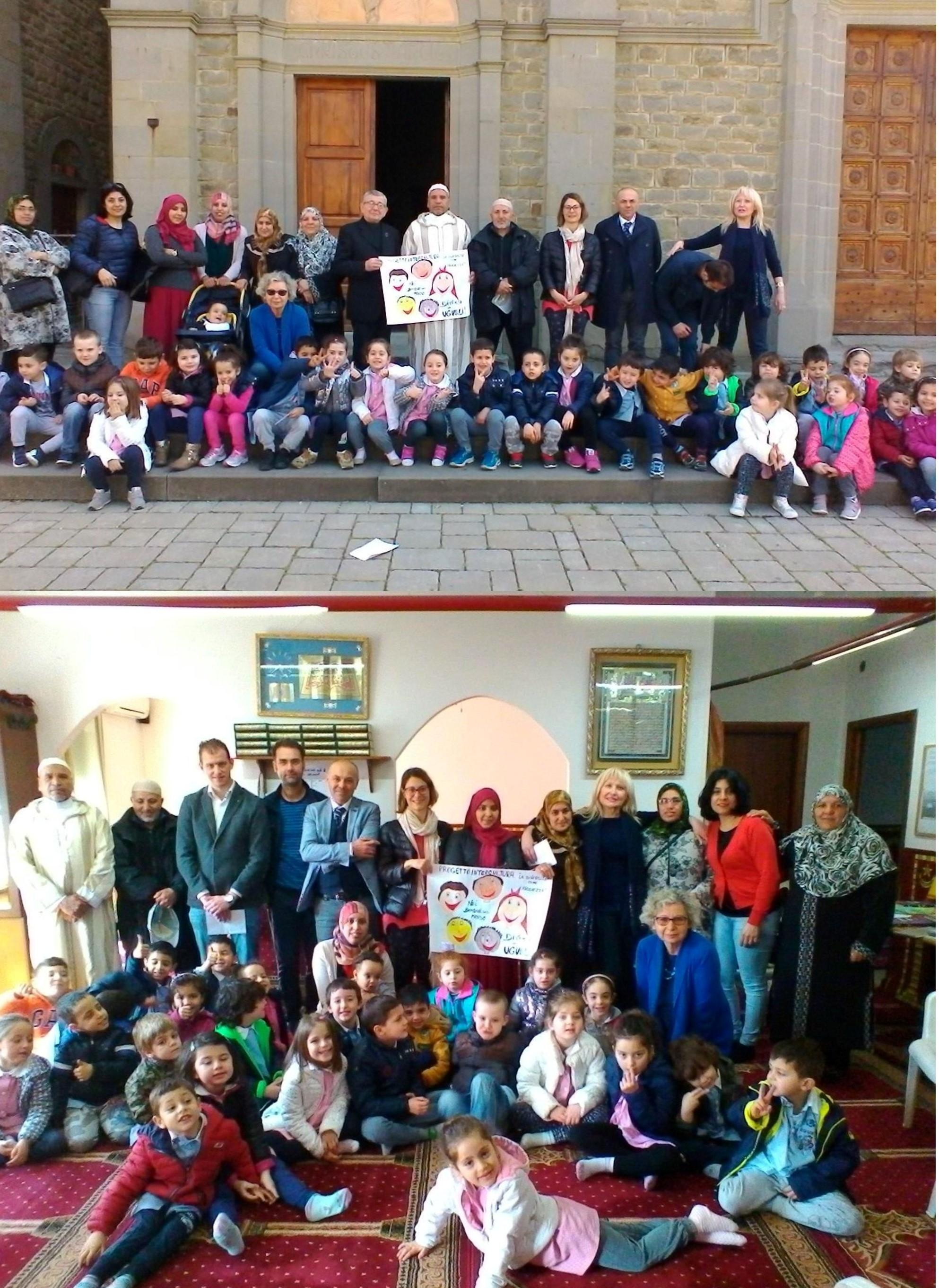 Gli studenti di Camucia in visita al Centro Islamico e alla Chiesa del Cristo Re