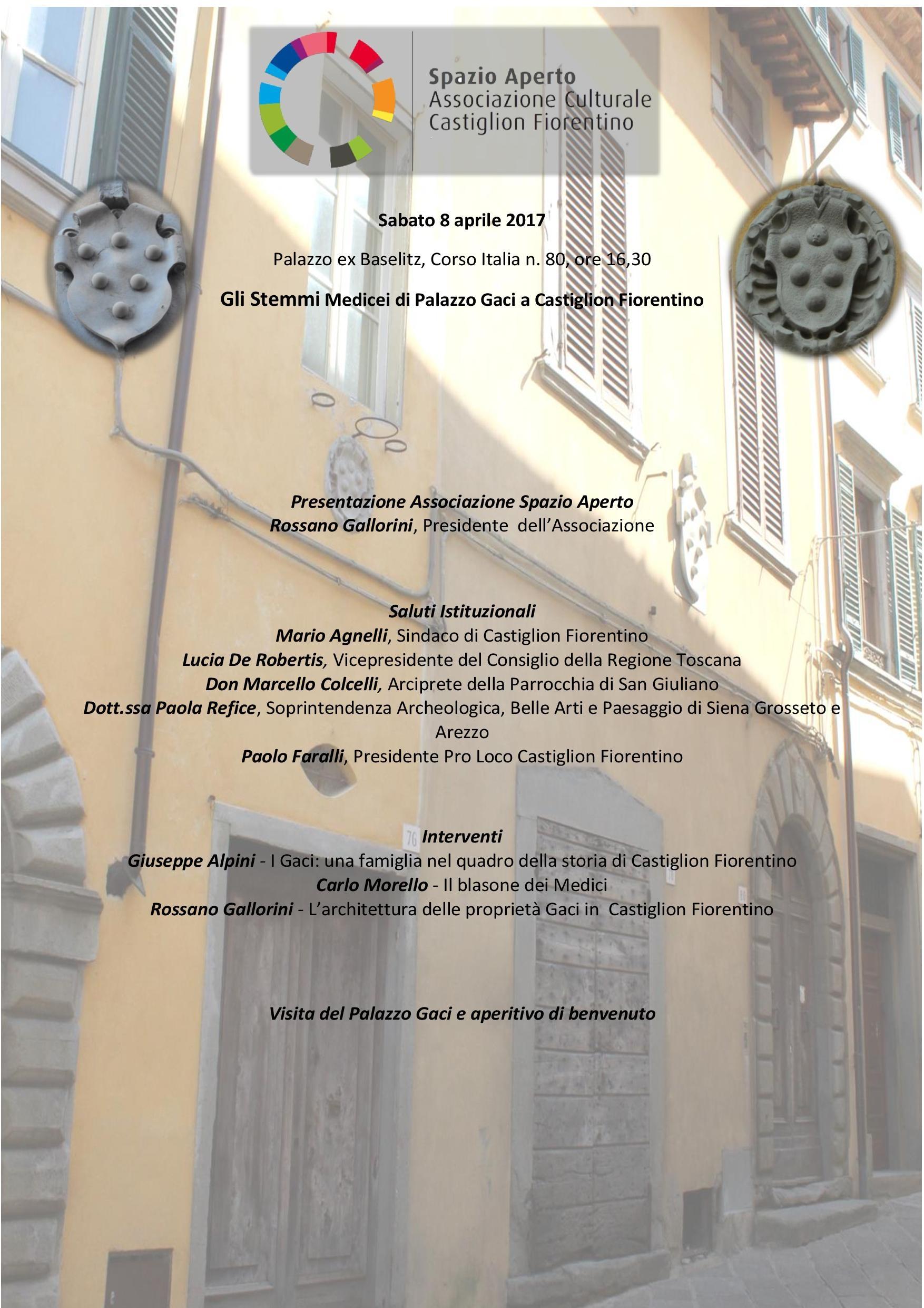 Nasce a Castiglion Fiorentino l'Associazione Culturale 'Spazio Aperto'