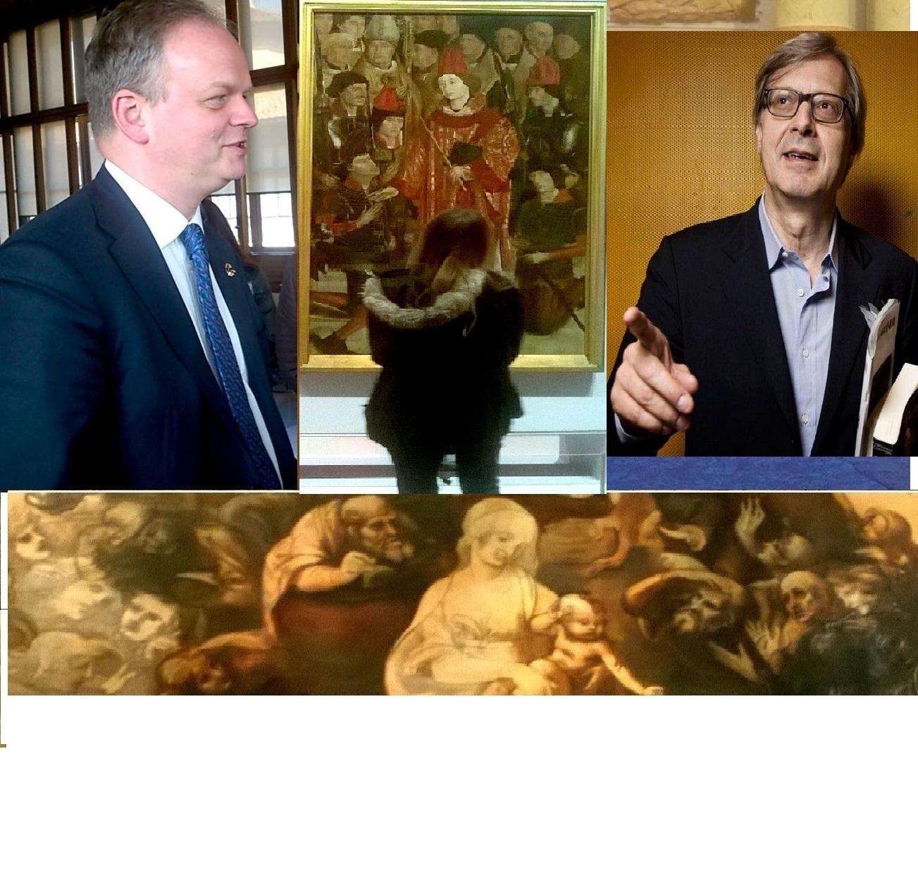 Il critico e lo storico, con Vittorio Sgarbi ed Eike Schmidt